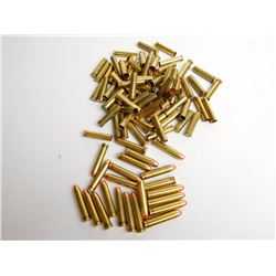 ASSORTED RNDS OF 357 REM MAG AMMO AND BRASS