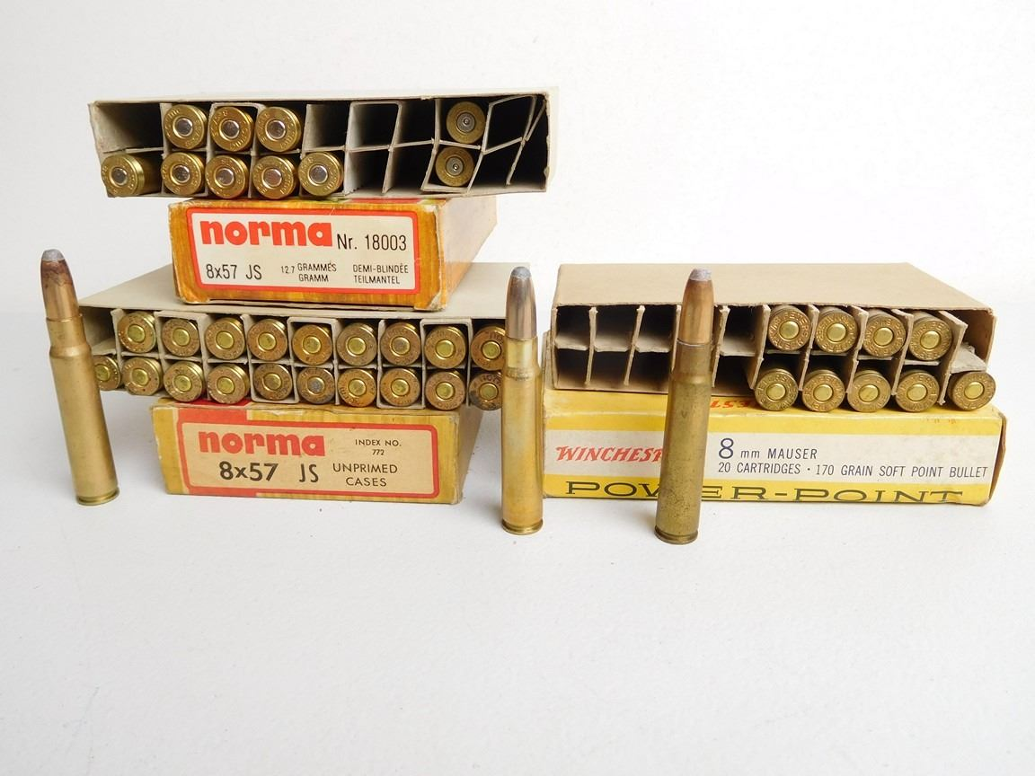 NORMA AND WINCHESTER 8X57 JS MAUSER AMMO