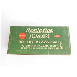 REMINGTON .30 LUGER FACTORY AMMO