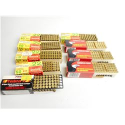 ASSORTED LOT OF 22 CAL LR INCL. AMERICAN EAGLE HIGH VELOCITY, SELLIER & BELLOT AND PMC