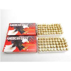 AMERICAN EAGLE 9MM LUGER 124 GR FMJ AMMO