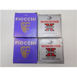 ASSORTED LOT OF 12 GA X 3 SHOTGUN SHELLS INCL FIOCCHI CRUSHER  AND WINCHESTER GAME LOAD