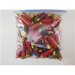 ASSORTED LOT OF 12 GA X 2 3/4 SHOTGUN SHELLS, VARIOUS SHOT SIZES