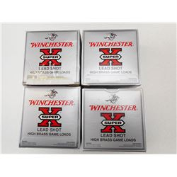 WINCHESTER HIGH BRASS GAME LOAD  LEAD SHOT 12 GA X 2 3/4 #6 SHOTSHELLS