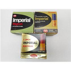 ASSORTED LOT OF IMPERIAL 12GA X 2 3/4 SHOTGUN SHELLS VARIOUS SHOT SIZES