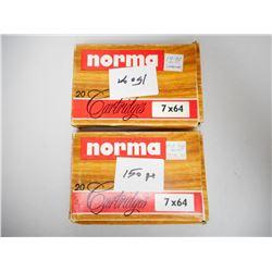 NORMA 7 X 64 150 GR AMMUNITION