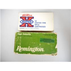 ASSORTED LOT OF 35 REM 200 GR INCLUDING REMINGTON AND WINCHESTER AMMUNTION