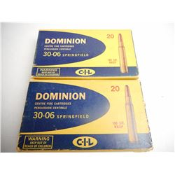 DOMINION 30-06 SPRG 180 GR KKSP AMMUNITION