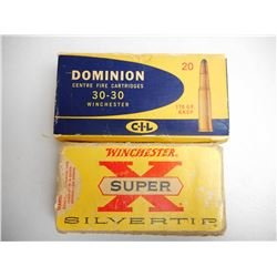 ASSORTED LOT OF 30-30 170 GR AMMUNITION