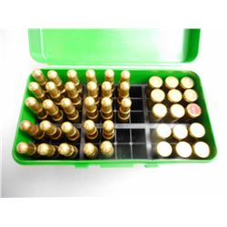 BELL .416 RIGBY AMMUNITION AND CASES IN PLASTIC HOLDER