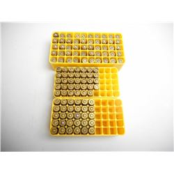 ASSORTED LOT OF 9MM AMMUNITION IN PLASTIC HOLDERS