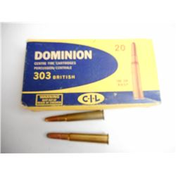 ASSORTED LOT OF .303 BR INCLUDING DOMINION AND IMPERIAL