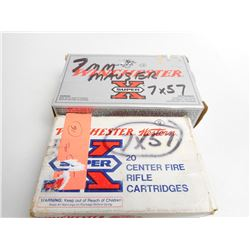 ASSORTED 7MM MAUSER AMMO