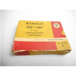 "KNOCH .450/.400 3"" NITRO-EXPRESS 400 GR AMMUNITION"