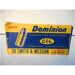 DOMINION 38 S & W SMOKELESS 145 GR AMMUNITION