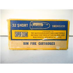 SUPER-CLEAN 32 SHORT RIM FIRE SMOKELESS 80 GR AMMUNITION
