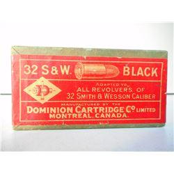 DOMINION 32 S&W C.F. BLACK AMMO