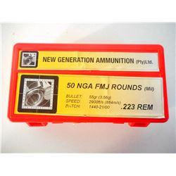 NEW GENERATION AMMUNTION .223 REM AMMO