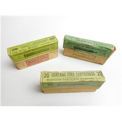 W.R.A. 32-40 CAL AMMO & ANTIQUE BOXES