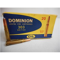 DOMINION 303 BRITISH AMMO