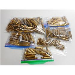 ASSORTED LOT OF RIFLE BRASS INCLUDING 308 358 270 30-06 AND VARIOUS