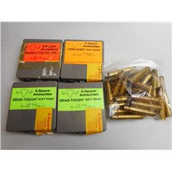 A-SQUARE .416 RIGBY BRASS SOME IN  4 PLASTIC HOLDERS