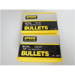 SPEEER 38 CAL 158  GRAIN SEMI WADCUTTER BULLETS