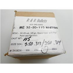 R & R BULLETS 32-20  CAST BULLETS 115 GR