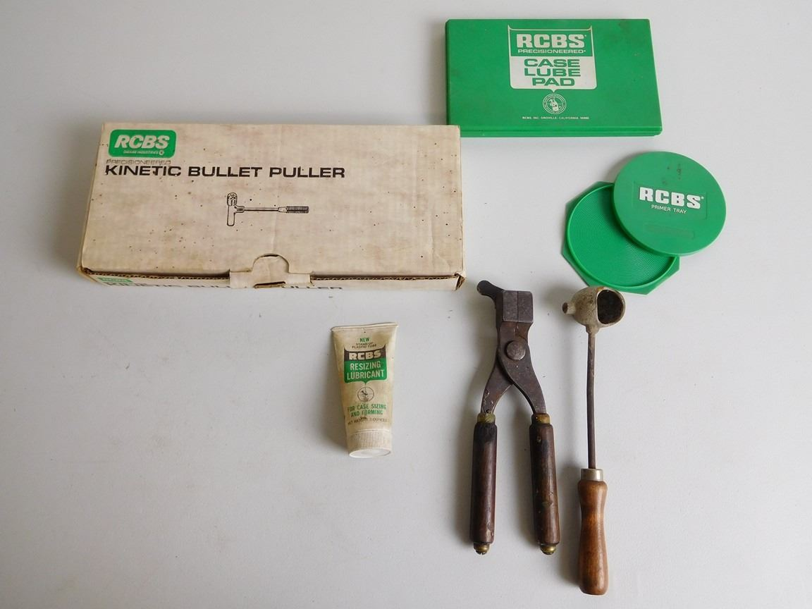 ASSORTED LOT OF RCBS RELOADING SUPPLIES
