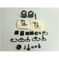 ASSORTED LOT OF SCOPE RINGS AND ACCESSORIES