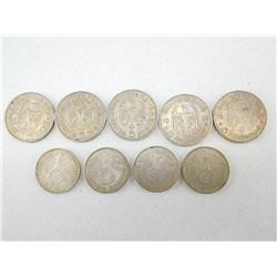 ASSORTED GERMAN COINS