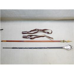 ASSORTED FLAG HOLSTERS AND POLES