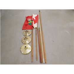 ASSORTED FLAGS & POLES
