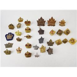ASSORTED CROWN PINS & PIPS