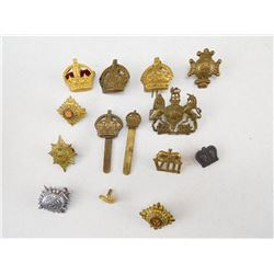 ASSORTED BRITISH PINS BADGES & PIPS