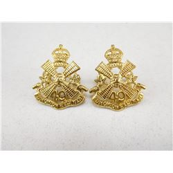 49TH EDMONTON REGIMENT COLLAR BADGES