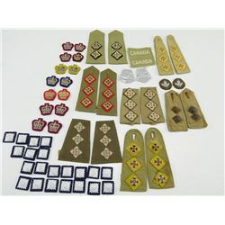 ASSORTED MILITARY RANK BADGES