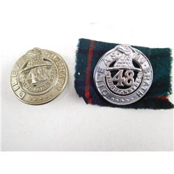 48 HIGHLANDERS OF CANADA HAT BADGES