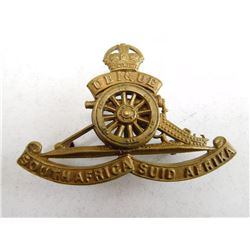 SOUTH AFRICA ARTILLERY CAP BADGE