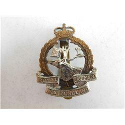 ROYAL REGIMENT OF NEWFOUNDLAND CAP BADGE