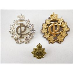 ROYAL CANADIAN POSTAL CORPS CAP & COLLAR BADGE