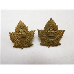 CANADA CROWN COLLAR BADGES