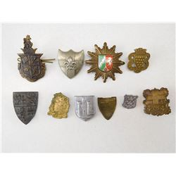 ASSORTED SHIELDS & CREST BADGES