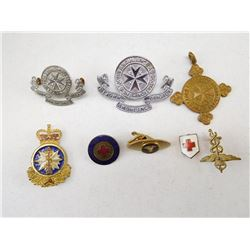 ASSORTED MEDICAL BADGES