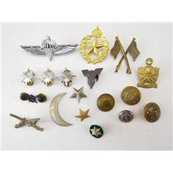 ASSORTED BADGES, PINS & BUTTONS