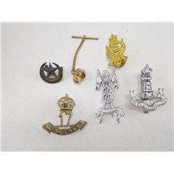 ASSORTED ROYAL INDIAN ARMY HAT BADGES