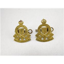 ROYAL CANADIAN ORDNANCE CORPS COLLAR BADGES