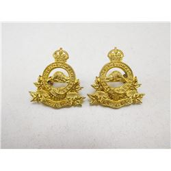 ROYAL CANADIAN ARMY PAY CORPS COLLAR BADGES