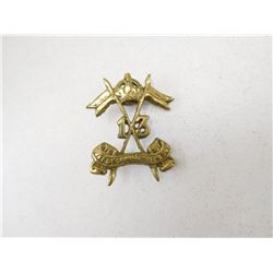 13TH DUKE OF CONNAUGHT'S OWN LANCERS CAP BADGE