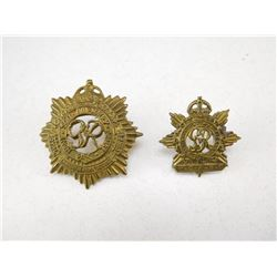 ROYAL CANADIAN ARMY SERVICE CORPS CAP & COLLAR BADGES